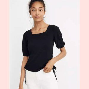 Madewell Texture & Thread Square-Neck Cinch Top